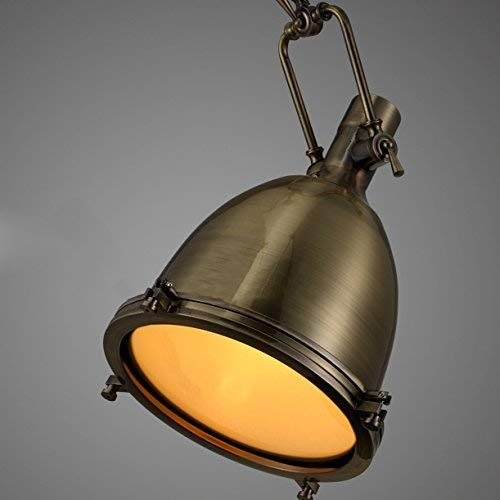 BOSSLV Vintage Ceiling Lamp Chandelier Industrial Light Pendent Lamp Dome Shade Frost Glass Diffuser