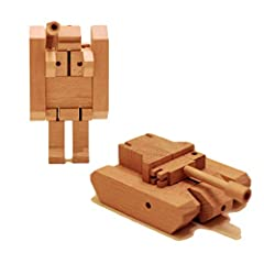WooBots are premium Transformable Wooden Robots specially crafted to transform into different states in just a few seconds. Each character is totally unique in design, and the limits to creativity are endless. This is a toy for people of all ...