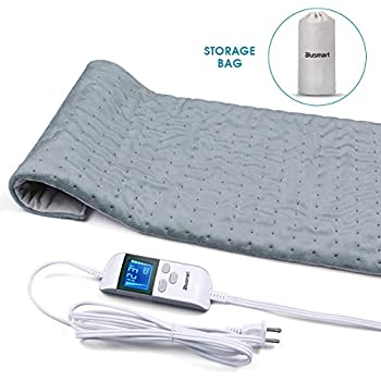 Blusmart Heating Pad, Ultra Soft Fast-Heating Pad w/Precise Temperature Control & Auto Shut-Off Design, Effectively Relieves Neck, Shoulder, Back, Wrist, Leg Pain - 12