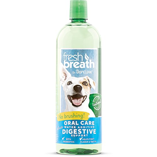 Tropiclean Fresh Breath Oral Care Water Additive Plus Digestive Support, 33.8oz by Tropiclean