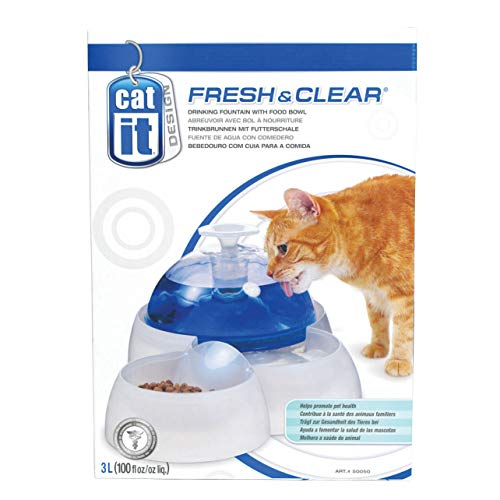 Catit Fresh & Clear Drinking Fountain for Cats and Puppies ()