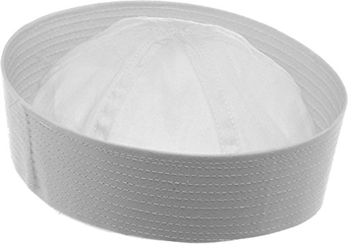 - White Military US Navy Cotton Dixie Cup Sailor Hat