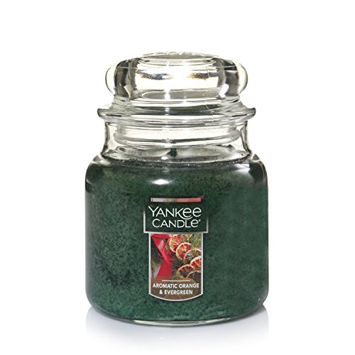 Yankee Candle Medium Jar Candle, Aromatic Orange & Evergreen