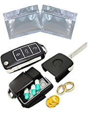 Sneaky Stash Car Key Fob Remote Diversion Safe: FREE Smell/Odor Proof Bag, Discrete Portable Storage Container To Hide Pills, Jewelry, or Valuables. Secret Hidden Can For Travel Or At Home Security (1 pack)