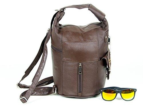 ada6f3e5399d Women Genuine Leather Sling Purse Handbag Shoulder Bag Backpack ...