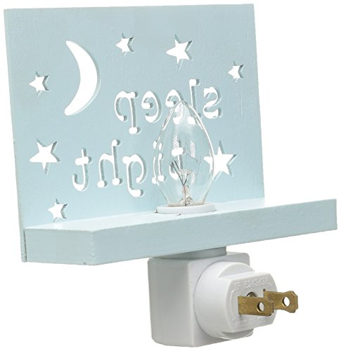 Mud Pie Baby Moon and Stars Cut Out Wood Night Light, Blue by Mud Pie (Image #1)