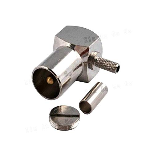 New RCA Male Crimp RF Coxial Connector RCA TV Male Plug Right Angle Crimp for RG316 RG174 LMR100 coaxial Cable