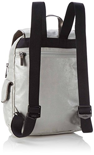 Metal City Kipling Mujer Mochilas S moon Pack Plateado xqUUZwRz0