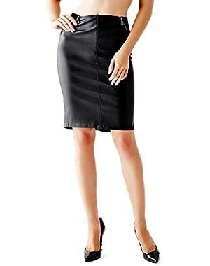Guess Women's High-Waist Sides Zip-Up Pencil Skirt Size 4!