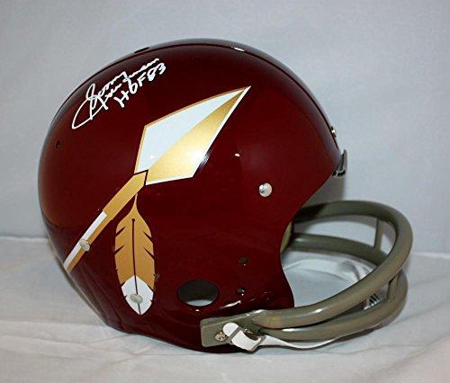 Sonny Jurgensen HOF Signed White F/S Washington Redskins 65-69 TK Helmet JSA W