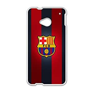 HTC One M7 Cell Phone Case White Barcelona cpjw