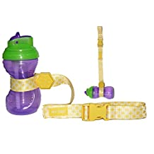 HnyBaby Sippy Cup Strap, Baby Bottle, Toy Strap, Sippy Cup Holder for Stroller & Highchair (Yellow)