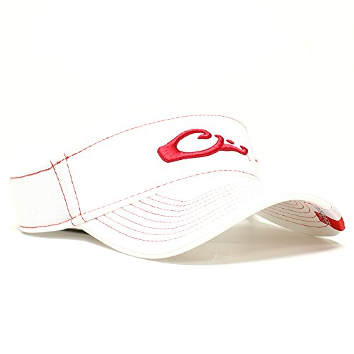 Game Day Visor (Drake Waterfowl Game Day Fitted Visor Arkansas Red and White M/L)