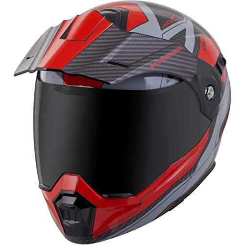 (Scorpion EXO-AT950 Tucson Adult Street Motorcycle Helmet - Red/Large)