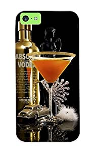 Appearance Snap-on Case Designed For Iphone 5c- Absolut Vodka Alcohol Vodka Martini (best Gifts For Lovers)
