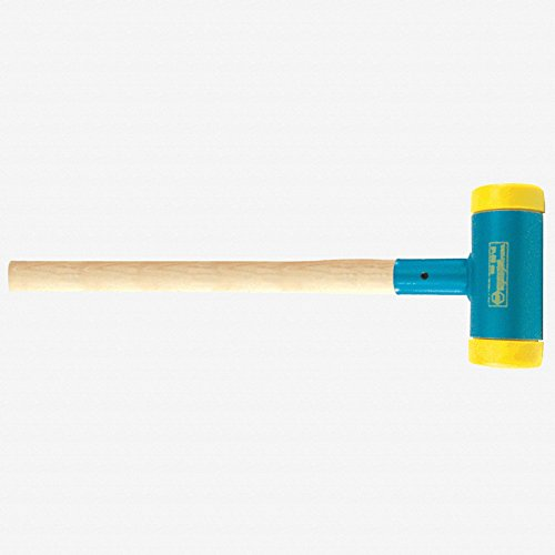 Wiha 80299 Dead Blow Sledge Hammer, Medium Hard Face, Recoilless, Polyurethane Face, Hickory Handle, 3.9'' Face, 43.2'' Overall Length