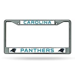 NFL Carolina Panthers Chrome Licensed Plate Frame