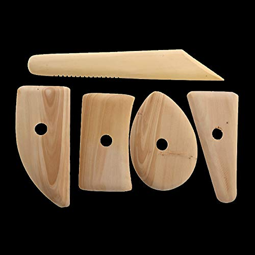 Eaglers Great Useful Home Decor - Wood Pottery Clay Sculpture Ceramics - Angel Figurines Molding Tool - Pottery Tools - 5 Pcs ()