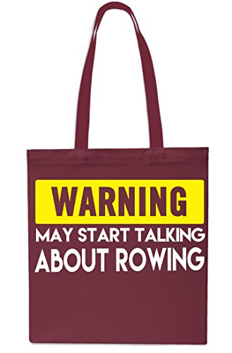 10 litres x38cm Tote Warning Gym Rowing About 42cm May Beach NAVY Shopping Bag MAROON Start Talking wqn4fFA7