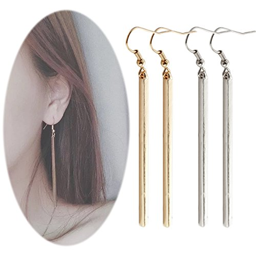 Bar Dangle Threader Drop Earrings Tassel Ear Studs Women Long Linear Simple Hoops Geometric Charm Jewelry 2 Mixed Pair
