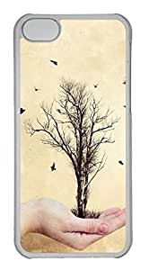 Personalized Custom Tree In My Hand for iPhone 5C PC Transparent Case