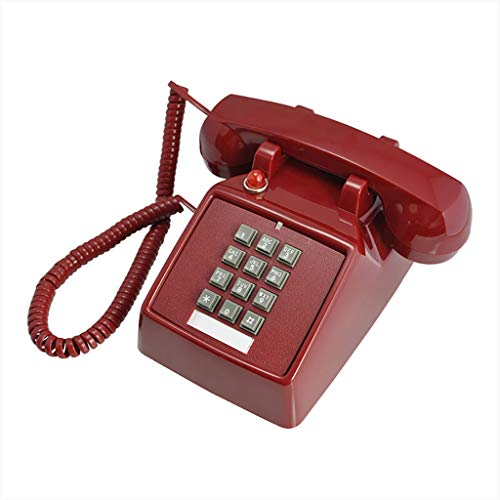 Telephone Extension Bell - DIAN HUA Telephone Landline, Old-Fashioned Button-Type Antique Telephone Retro Mechanical Bell Fixed Landline Telephone with Light