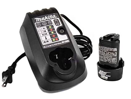 Makita DC10WB Battery Charger and BL1014 Battery (Supplied by Authorized Makita Dealers)