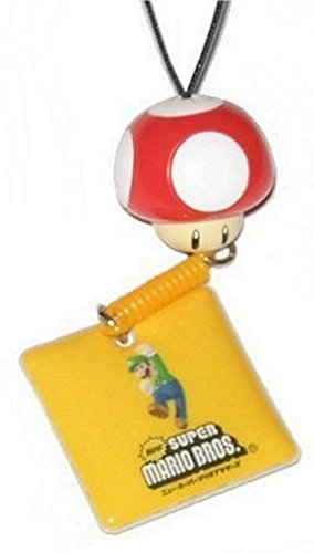 Price comparison product image Nintendo Super Mario Bros. Red Mushroom Luigi Charm Keychain