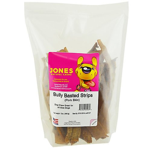 Jones Naturals Bully Basted Strips Dog Chew 12oz