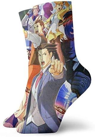 Ace Attorney Anime Sokken voor volwassenen casual Crew sokken kunstdruk Crew sokken