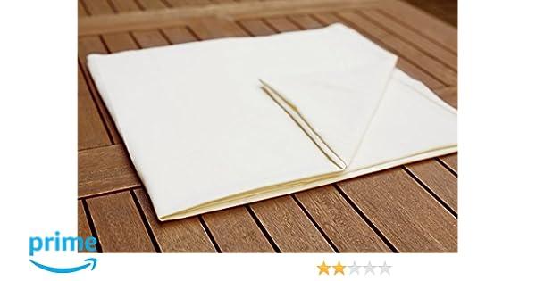 Sábana encimera, sábana bajera de barro, de masaje de sábanas en diferentes tamaños, algodón, blanco, 100 x 200 cm: Amazon.es: Hogar