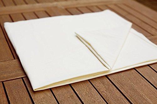 Coton 100 x  200 cm Drap plat massage boue lisse dans diff/érentes tailles blanc drap