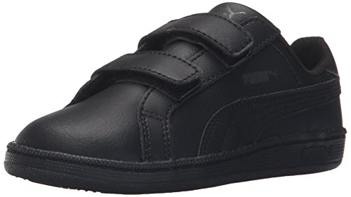 PUMA Smash Fun L V Kids Sneaker (Toddler/Little Kid/Big Kid) , Black/Black, 4 M US Toddler