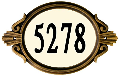 Designer's Choice DRMNBZ Do-It-Yourself Roman Address Plaque Kit, Black/Bronze