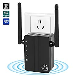 Wifi Range Extender, Guckzahl Wifi-repeater Wifi Range Extender 300mbps Internet Booster Signal Wireless Wifi Extender With 2 External Antennas To Wifi Coverage (Us)