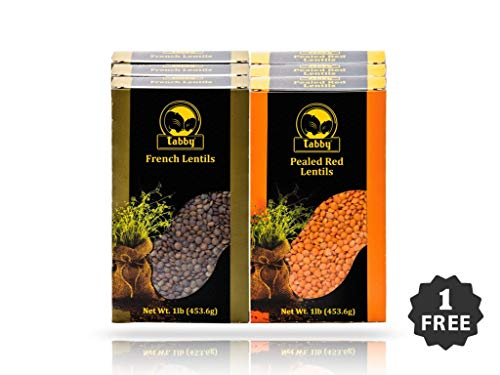 Tabby Beans Premium Lentils, 6 lbs Combos (french/Orange for sale  Delivered anywhere in USA
