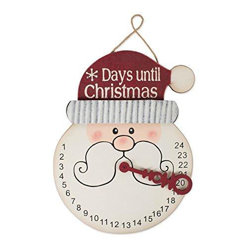 DII CAMZ10897 Indoor/Outdoor Hanging Snowman Advent Calendar for The Holidays, Wooden Wall & Door Decoration, 16.75x12.75x0.5, Santa Countdown