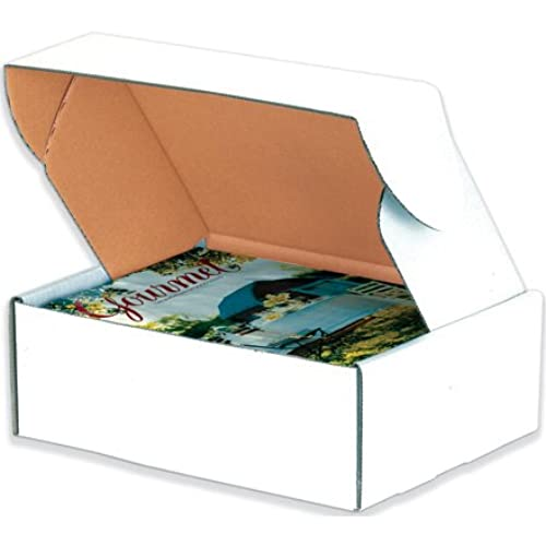 "Aviditi MFL962 Corrugated Deluxe Literature Mailer, 9"" Length x 6-1/4"" Width x 2"" Height, Oyster White (Bundle of 50) supplier"