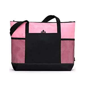 Gemline 1100 Select Zippered Tote - Pink - One Size