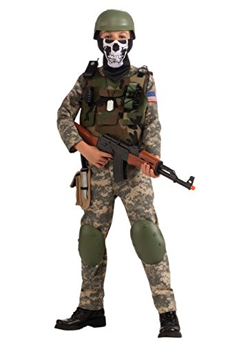 Camo Vest Costume (Deluxe Child Camo Trooper Costume, Large)