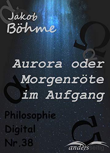 Aurora Oder Morgenröte Im Aufgang Philosophie Digital Nr