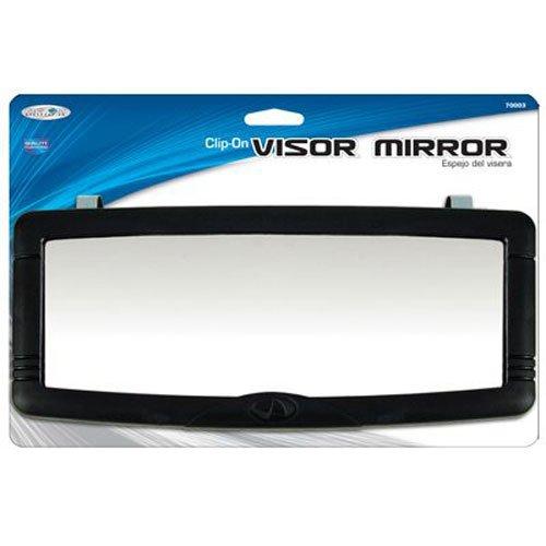 Custom Accessories 70003 Black Deluxe Visor Mirror