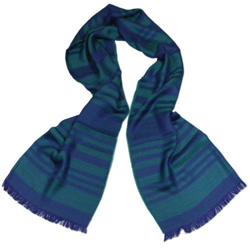 Stola Mibrea - Baby Alpaka/Seide, violett grün (Violett Grün)