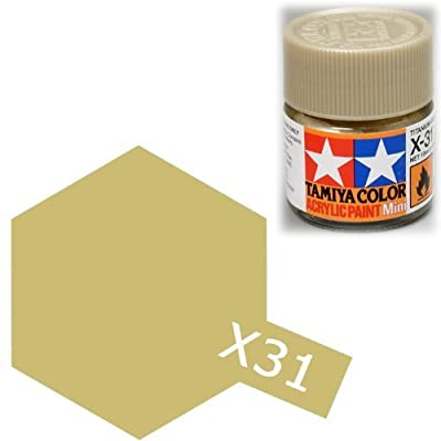 TAMIYA X31 81531 Acrylic Mini X31 Titanium Gold 1/3 oz 10ml: Toys & Games