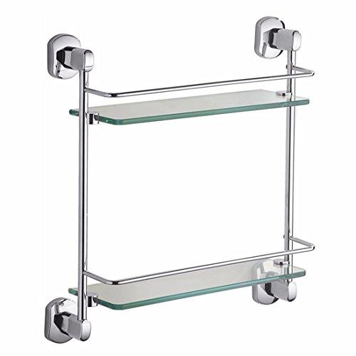 Chrome Oval Pendant - LAONA Modern European alloy chrome plated oval base, bathroom pendant set, towel bar, toilet paper rack,Rack 2