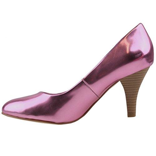 TAMARIS Damen Pumps Pink Metallic