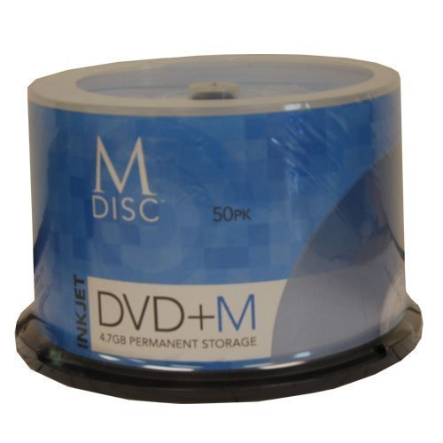 M-DISC Inkjet Printable DVD+R 4X Cake Box [50 Pack] by Produplicator