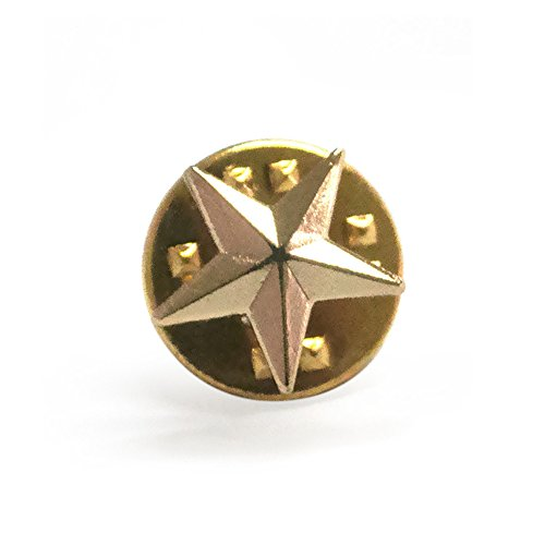 Alice (Price/50 PCS) 3D Die Struck Star Pin, Golden,Silver, 3/8