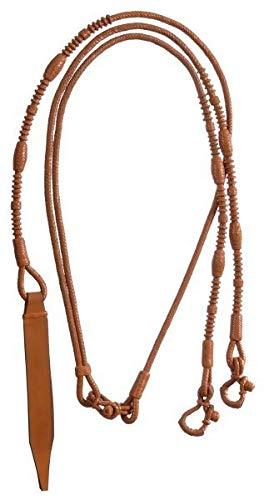 (Royal King Braided Leather Western Romel Rein Lt O)