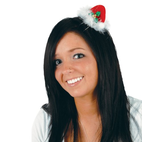 Beistle 1-Pack Santa Hat Hair Clip for Party Favors (Clip Santa)